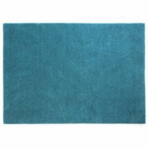 中敷きラグ フレイク ブルー 185×185cm