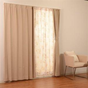 カーテン 4Pサージ ベージュ 巾100cm×丈178cm 4枚入