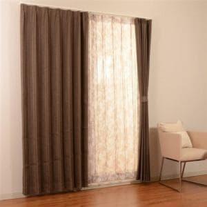 カーテン 4Pプロト ブラウン 巾100cm×丈200cm 4枚入