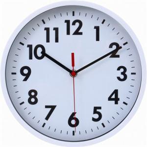 掛け時計・ウォールクロック ミーナ ホワイト 径約25cm