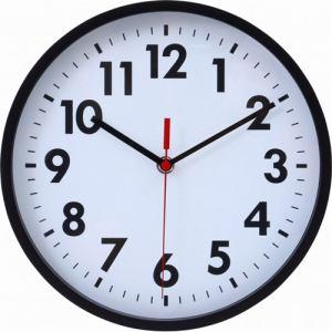 掛け時計・ウォールクロック ミーナ ブラック 径約25cm