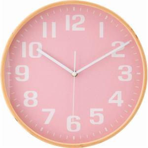 曲木掛時計  ピンク 直径28cm
