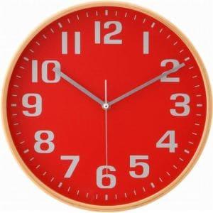 曲木掛時計  レッド 直径28cm