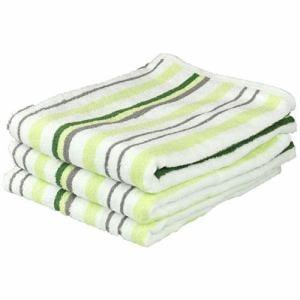 タオル しっかりストライプ グリーン バスタオル(1枚)