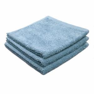 タオル 綿100% スーピマカラー クリスタルブルー ハンドタオル 耐久性に優れ (1枚)