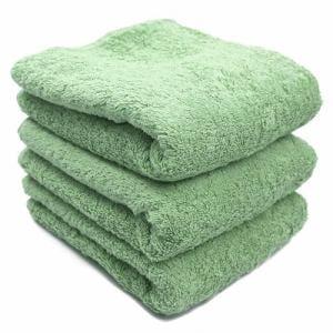タオル 綿100% スーピマカラー パステルグリーン フェイスタオル 耐久性に優れ (1枚)