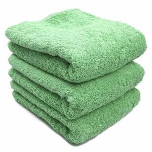 タオル 綿100% スーピマカラー グラスグリーン フェイスタオル 耐久性に優れ (1枚)