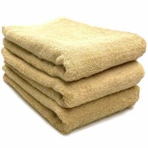 タオル 綿100% スーピマカラー ベージュ ミニバスタオル  幅50×長さ100cm 耐久性に優れ(1枚)