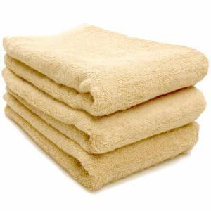 タオル 綿100% スーピマカラー ライトイエロー ミニバスタオル  幅50×長さ100cm 耐久性に優れ(1枚)