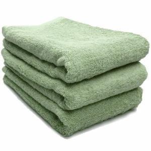 タオル 綿100% スーピマカラー パステルグリーン ミニバスタオル  幅50×長さ100cm 耐久性に優れ(1枚)