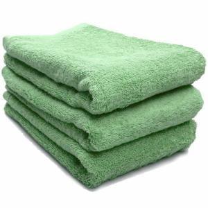 タオル 綿100% スーピマカラー グラスグリーン ミニバスタオル  幅50×長さ100cm 耐久性に優れ(1枚)