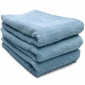 タオル 綿100% スーピマカラー クリスタルブルー ミニバスタオル  幅50×長さ100cm 耐久性に優れ(1枚)