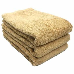タオル 綿100% スーピマカラー ベージュ バスタオル 耐久性に優れ(1枚)