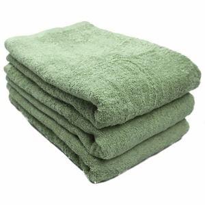 タオル 綿100% スーピマカラー パステルグリーン バスタオル 耐久性に優れ(1枚)