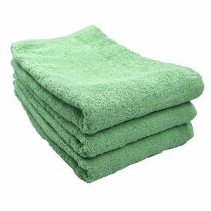 タオル 綿100% スーピマカラー グラスグリーン 大判バスタオル 耐久性に優れ(1枚)