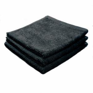 タオル 綿100% スーピマカラー ブラック ハンドタオル 耐久性に優れ (1枚)