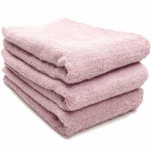 タオル 綿100% スーピマカラー ローズピンク ミニバスタオル 耐久性に優れ(1枚)