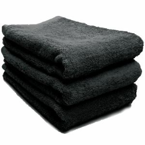タオル 綿100% スーピマカラー ブラック ミニバスタオル 幅50×長さ100cm 耐久性に優れ(1枚)