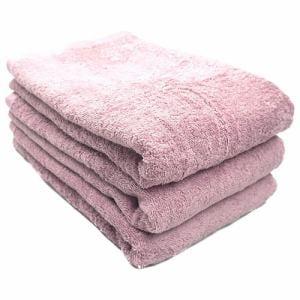 タオル 綿100% スーピマカラー ローズピンク バスタオル 幅50×長さ100cm 耐久性に優れ(1枚)