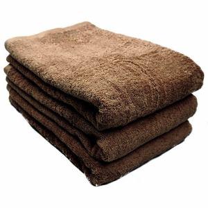 タオル 綿100% スーピマカラー チョコレートブラウン バスタオル 耐久性に優れ(1枚)