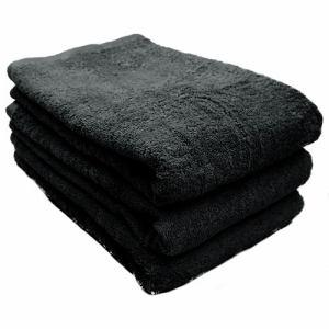 タオル スーピマカラー ブラック バスタオル(1枚)