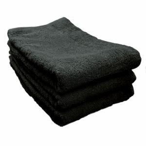 タオル 綿100% スーピマカラー ブラック 大判バスタオル 耐久性に優れ(1枚)