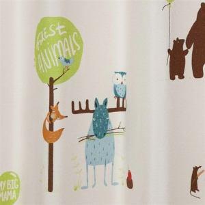カーテン モリノパーティー ベージュ 巾100cm×丈135cm 2枚入