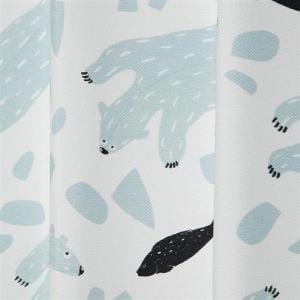 カーテン シロクマ ホワイト 巾100cm×丈178cm 2枚入