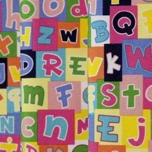 カーテン イチニチニコトバ ミックス 巾100cm×丈135cm 2枚入