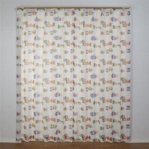 カーテン ボイル イチニチノコトバ ミックス 巾100cm×丈176cm 2枚入