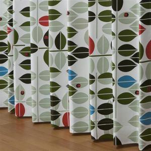ドレープ遮光カーテン トリコ グリーン 巾100cm×丈135cm 2枚入