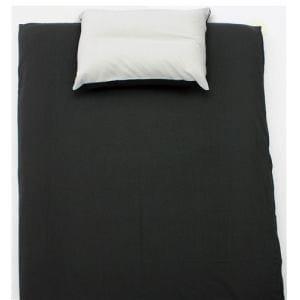 ベッドカバー/ボックスシーツ ダブル 140×200×30cm  TCすっぽりシーツ 無地 ブラック