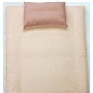 ベッドカバー/ボックスシーツ ダブル 140×200×30cm  TCすっぽりシーツ 無地 ピンク