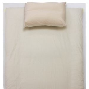 ベッドカバー/ボックスシーツ セミダブル 120×200×30cm  TCすっぽりシーツ 無地 ベージュ