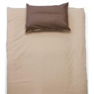 ベッドカバー/ボックスシーツ  シングル 100×200×30cm TCすっぽりシーツ 無地 ブラウン