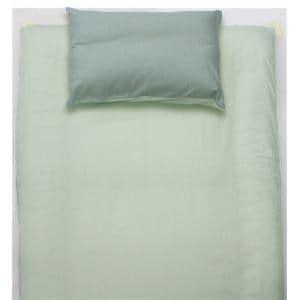 ベッドカバー/ボックスシーツ シングル 100×200×30cm  TCすっぽりシーツ 無地 グリーン