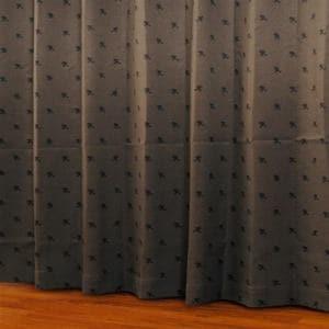 ドレープカーテン シルエットdeミッキー ブラウン 巾100cm×丈178cm 2枚入