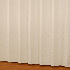 ドレープカーテン シルエットdeミッキー アイボリー 巾100cm×丈200cm 2枚入
