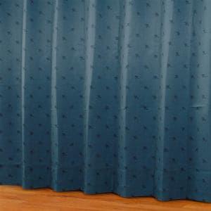 ドレープカーテン シルエットdeミッキー ネイビー 巾100cm×丈200cm 2枚入