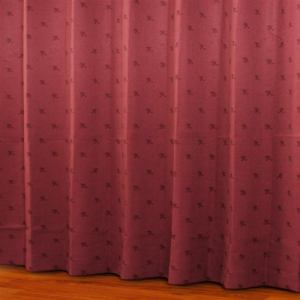ドレープカーテン シルエットdeミッキー レッド 巾100cm×丈135cm 2枚入