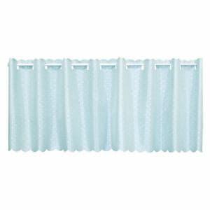 カフェカーテン 撥水プレーン ブルー 巾145cm×丈45cm