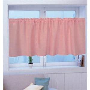 カフェカーテン カフェ Wムジ ピンク 巾140cm×丈45cm