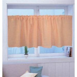 カフェカーテン カフェ Wムジ オレンジ 巾140cm×丈45cm