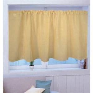 カフェカーテン カフェ Wムジ グリーン 巾140cm×丈70cm