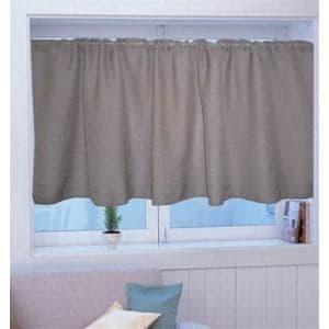 カフェカーテン カフェ Wムジ ブラウン 巾140cm×丈70cm