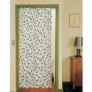アコーディオンカーテン ナナ グリーン 巾140cm×丈178cm