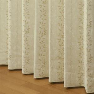 ドレープ遮光カーテン ミュール ベージュ 巾100cm×丈105cm 2枚入