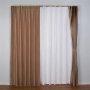 ドレープカーテン ケリー ブラウン 巾100cm×丈178cm 2枚入