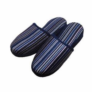 ストライプスリッパ 1806 ブルー フリーサイズ(約)24cm~26cm