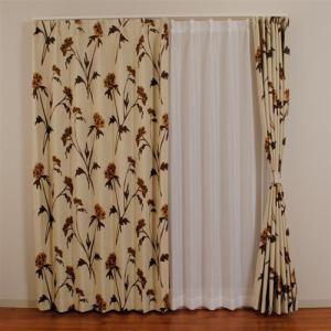ドレープ遮光カーテン LMダスク ブラウン 巾100cm×丈178cm 2枚入
